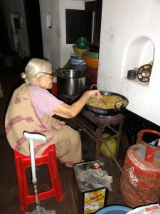Kasthuri akka's 90-year old mother busy preparing star fruit jam for visitors