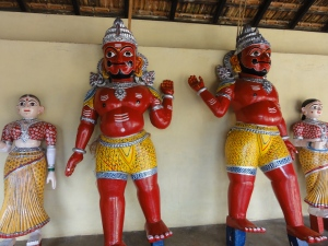 Statues of Yerava and Murari in the temple complex