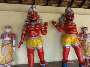 Statues of Yerava and Murari in the temple complex