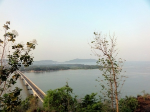 Kali river bridge and estuary point
