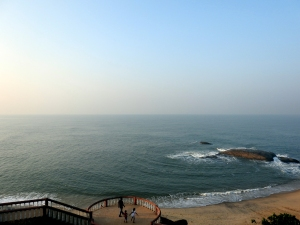 View of the beach from top