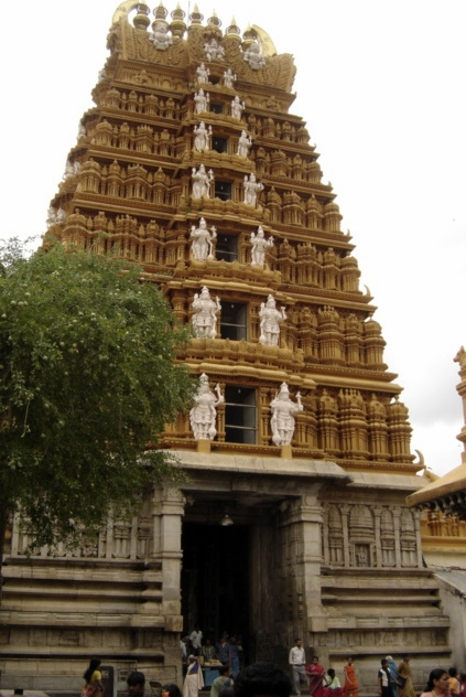 The exterior of the temple