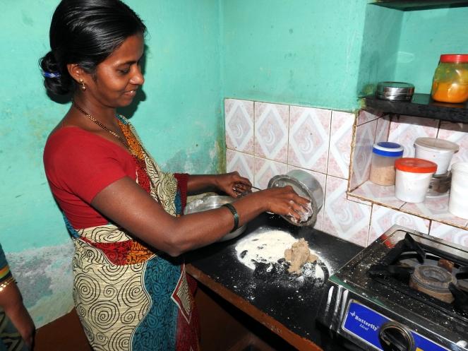 Preparing the dough